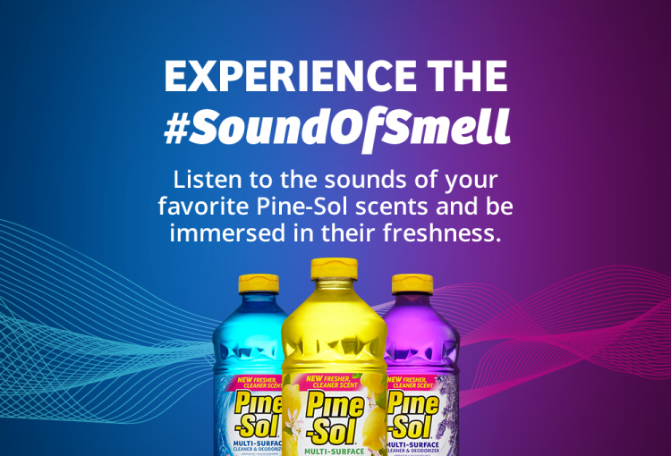 Listen to the sounds of your favorite Pine-Sol scents and be immerse in their freshness.